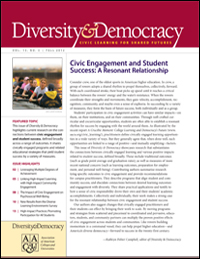 Diversity & Democracy: Civic Engagement and Student Success: A Resonant Relationship (Fall 2012)