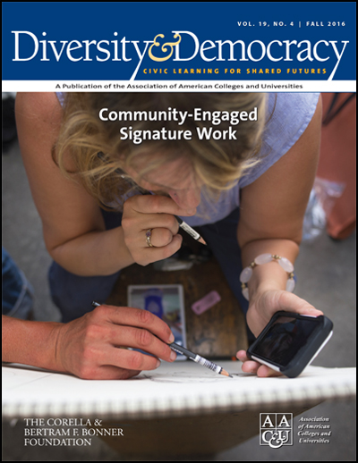 Diversity & Democracy: Community-Engaged Signature Work (Fall 2016)