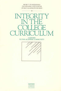 Integrity in the College Curriculum
