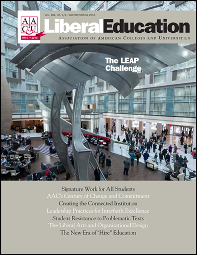Liberal Education Winter/Spring 2015: The LEAP Challenge