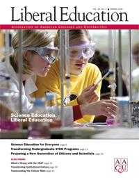 Science Education, Liberal Education, <em> Liberal Education </em>, single issue