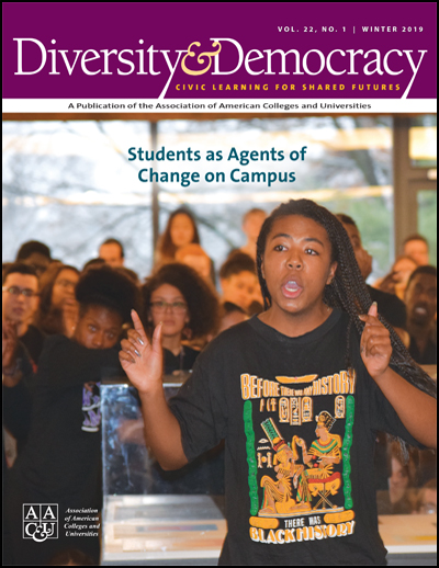 Diversity & Democracy, Vol. 22, No. 1. Students as Agents of Change