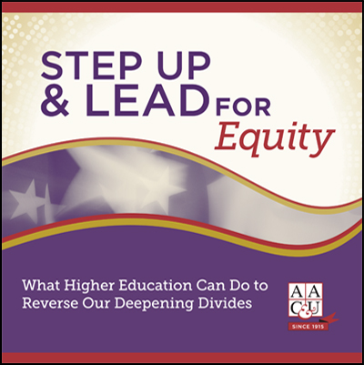 Step Up and Lead for Equity: What Higher Education Can Do to Reverse Our Deepening Divides<br \><em>(limit 50 per person)</em>
