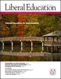 Liberal Education Fall 2012—LE for Sustainability