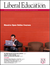 Liberal Education, Fall 2013: Massive Open Online Courses
