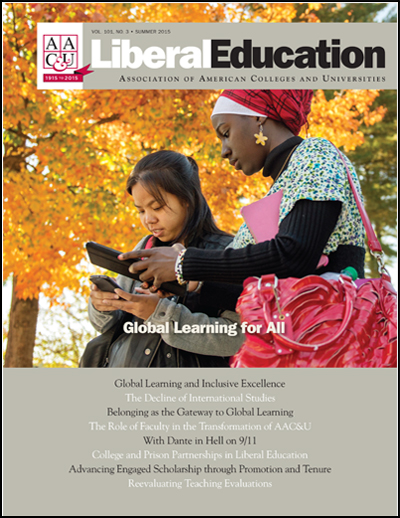 Liberal Education Summer 2015: Global Learning for All