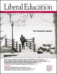 The Completion Agenda, <em>Liberal Education</em>, Winter 2012