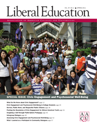 Civic Engagement and Psychosocial Well-Being, <em> Liberal Education</em>, Spring 2011