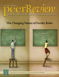 Peer Review Summer 2013: The Changing Nature of Faculty Roles