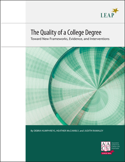 The Quality of a College Degree: Toward New Frameworks, Evidence, and Interventions