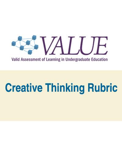 Creative Thinking VALUE Rubric (pdf)
