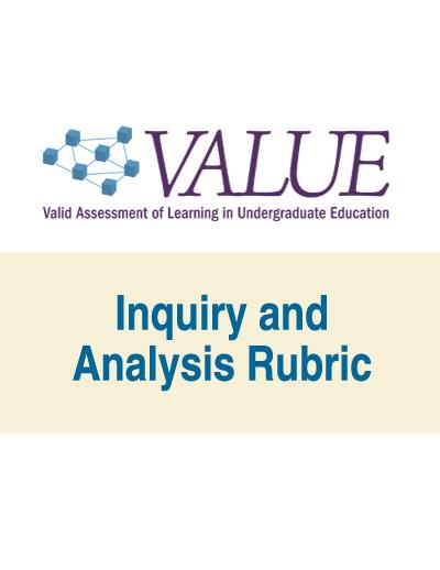 Inquiry and Analysis VALUE Rubric