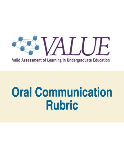 Oral Communication VALUE Rubric