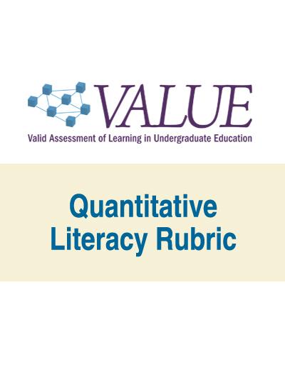 Quantitative Literacy VALUE Rubric