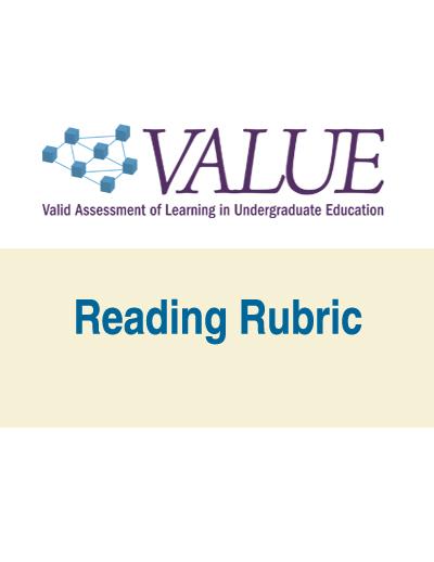 Reading VALUE Rubric