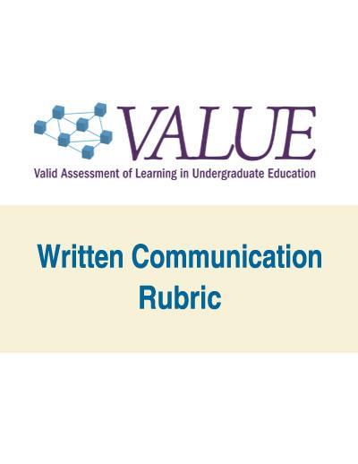 Written Communication VALUE Rubric