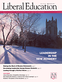 Liberal Education Winter 06- Leadership in the New Academy